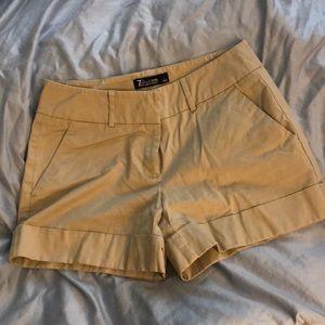 NY&CO Khaki Dress Shorts